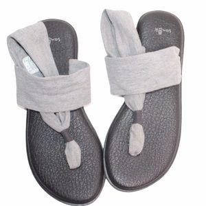 Sanuk Yoga Grey Sling 2 Sandals Size 9